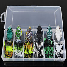 6pcs Lot With Box Soft Frog Bass Fishing Lures Bait Snakehead Tackles 5.1cm/6.9g