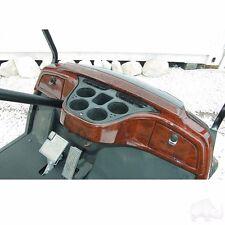 Yamaha Drive Golf Cart Car Dash Board Woodgrain 4 CupHolder & 2 Locking Compartm