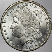 1885-O MORGAN SILVER DOLLAR STRIKING BU PROOF LIKE UNC CHOICE BEAUTIFUL (MR)