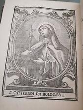 1724 Vita di S. Caterina da Bologna - Grassetti Giacomo