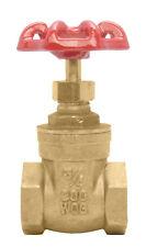"""3/4"""" Brass Gate Valve - 200WOG, FxF NPT"""