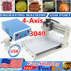 4-Axis 3040 CNC Router Engraver USB Wood Milling Cutter Engraving Machine 110V