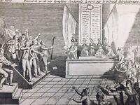 Procès Brissot 1793 Valazé Révolution Française Rare Gravure Girondins