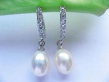Pendientes de joyería naturales de platino