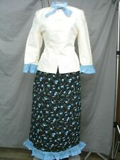 Victorian Dress Edwardian Costume Civil War Reenactment Suit w Shawl
