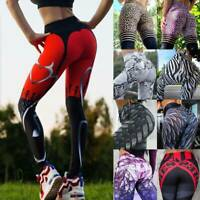 Women Printed Sports Yoga Pants Fitness Gym Leggings Running Gym Workout Stretch