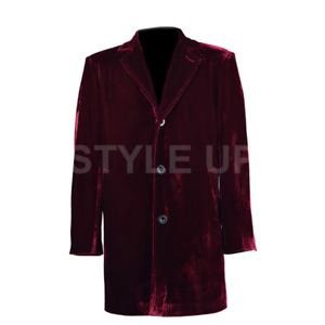 New 12th Doctor Who Stylish Peter Capaldi Vinatge Casual Wear Velvet Blazer Coat
