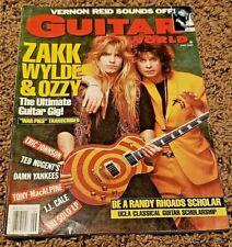Guitar World June 1990 - Zakk Wylde & Ozzy
