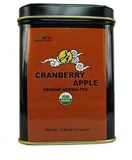 Organic cranberry apple fruit tea herbal tea loose leaf tea 4.00 OZ in Tea Tin