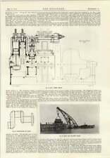 1914 Gio Ansaldo Pneumatic Tool Carriers Jetty Floating Crane