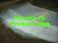 """100 OPP 5""""CD Plastic Protect Bag Resealable Outer Sleeves JAPAN"""