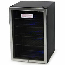 Beverage Center Cool Built-In Cooler Mini Refrigerator w/ Lock- Black/Stainless