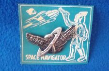 Vintage Space Navigator Pin Carded Made in Japan New Old Stock