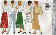 Butterick 4641 A-Line Skirt & Pants Sewing Pattern Uncut Size 8-10-12