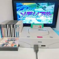 Sega Saturn white console bundle + Accessories + 10 games set SS from Japan