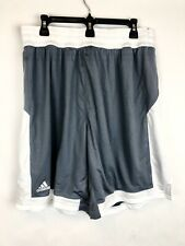 Adidas, Men's Grey/White Basketball Shorts, Size XL