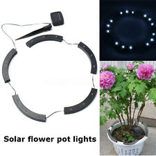 Solar Powered LED Outdoor Garden Yard Path Flowerpot Potted Plant Curved Light
