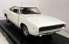 Ertl Escala 1/18 - 36512 1968 Dodge Cargador R/T Coche Modelo Diecast Blanco
