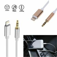 8Pin to 3.5mm Male Car AUX Audio Headphone Music Adapter Cable For iPhone 7 8 X