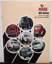 1976 Mack Trucks MB Series Engine Specifications Sales Brochure Original