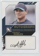 2011 ITG Heroes and Prospects Close Up Gold /10 Mauricio Robles #A-MR2 Auto
