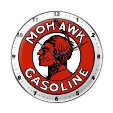 MOHAWK Wanduhr groß Metall Schild Uhr  Gasoline Oil Pump Werbung Werkstatt V8 US