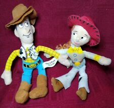 "Sheriff Woody, Western Jessie, Soft & Huggable, Toy Story  Dolls 7"" tall."