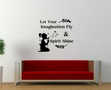 Quote Imagination Inspirational Décor Wall Art Sticker Vinyl Decal Transfer