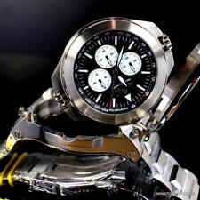 Invicta Transatlantic 50mm Reversable Silver-Tone Steel Black Dual Mvt Watch New