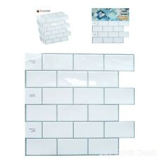 Crystiles Decorative Tiles Peel and Stick Self-Adhesive Vinyl Wall Tiles