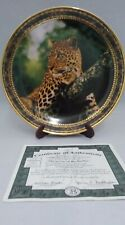 1994 Portraits of Majesty Emperor Of His Realm Leopard Ltd Ed Plate; Certificate