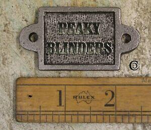 VINTAGE CAST IRON PEAKY BLINDERS PLAQUE
