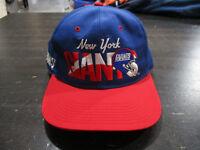 VINTAGE New York Giants Snap Back Hat Cap Blue Red NFL Football Mens 90s