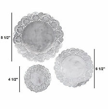 """Silver Paper Doilies (36 Pieces) Assorted Sizes 8 1/2""""   6 1/2""""   4 1/2"""""""