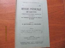 Revue Médicale de Louvain N°21 1932 L'aspirine pour et contre