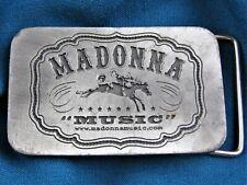 MADONNA OFFICIAL MUSIC ALBUM PROMO LOGO BELT BUCKLE VIRGIN 2001 Drowned Tour