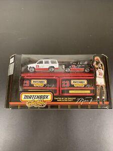 MICHAEL JORDAN #23 CHEVY TAHOE TWO CAR SET 1999 MATCHBOX 1:64 DIE-CAST NEW