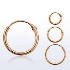 Hinged Rose Gold Plated Sterling Silver Nose Ring Hoop 22 Gauge 22G