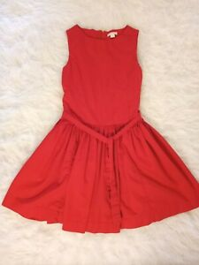 J Crew Crewcuts Girls Red Dress Size 10