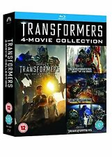 Transformers Quadrilogy 1 -4 Blu Ray Box Set Part 1 2 3 4 All Movie Film New