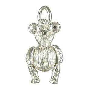 Sterling Silver Moveable Teddy Bear Charm