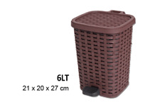 Pattumiera Plastica A Pedale 6 Litri Bidone Cestino Spazzatura Differenziata dfh