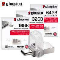 Kingston DTDUO3C 16GB 32GB 64GB Data Traveler Micro Duo USB U3.1 Type-C OTG