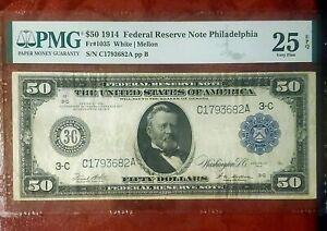 1914 PHILADELPHIA FEDERAL RESERVE ~ LOVELY CHOICE PMG VERY FINE 25 EPQ