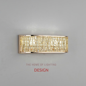 Emilia Crystal Drum Wall Light Gold RRP £115.00