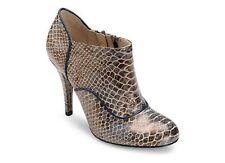 Damen Tiermuster Stiefel mit Reißverschluss