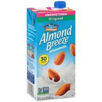 Almond Breeze - Original Unsweetened, 32 Ounce -- 12 per case.