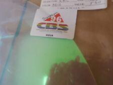 """Dichroic Glass: Cbs 96 Coe Aqua on Thin Clear 3"""" Sq"""