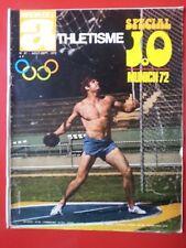 1972 MIROIR DE L'ATHLETISME  n°97 SPECIAL AVANT JEUX OLYMPIQUES 1972 CHAMPIONNAT
