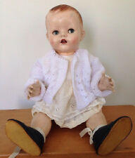 Vtg 1930s Hard Plastic Voice Box Moveable Limbs Baby Doll Eyes Open Close 20""